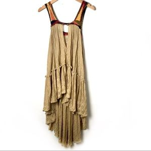 Free People high low hemline lace tank dress